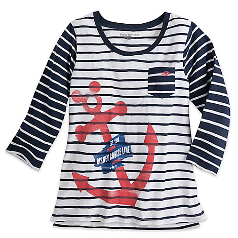 Disney Cruise Line Anchor Icon Pullover Top for Women