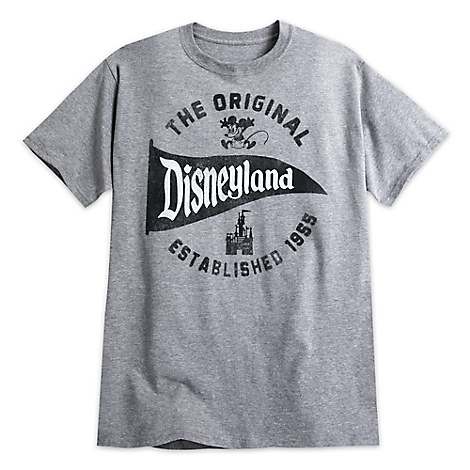 Disneyland Pennant Tee for Adults - Gray