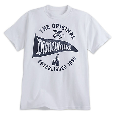 Disneyland Pennant Tee for Adults - White