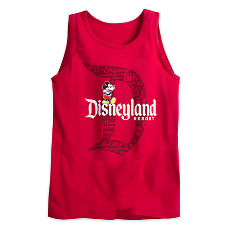 Mickey Mouse with Disneyland Logo Tank Tee for Adults - Red