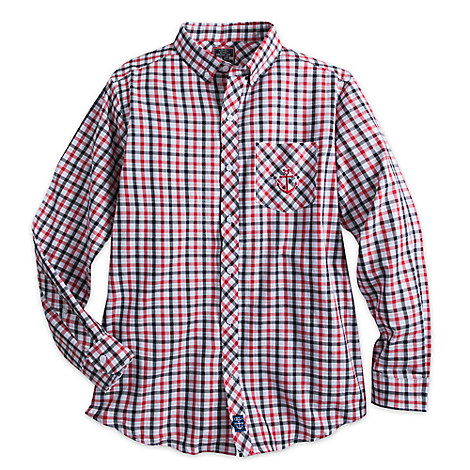 Disney Cruise Line Long Sleeve Woven Shirt for Men - Plaid