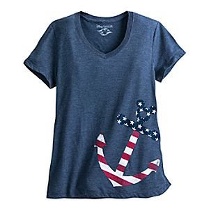 Mickey Mouse Icon Anchor Tee for Women - Disney Cruise Line