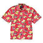 Mickey Mouse Woven Floral Shirt for Men by Tommy Bahama - Red