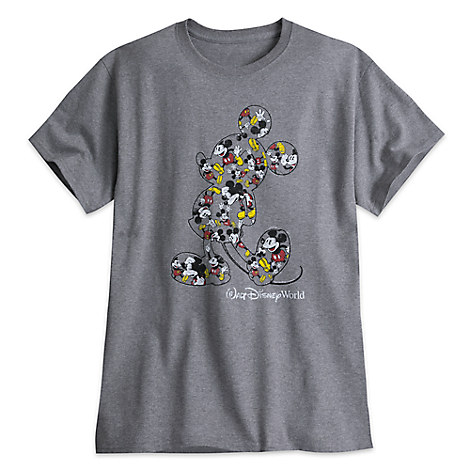Mickey Mouse Heathered Tee for Adults - Walt Disney World - Gray