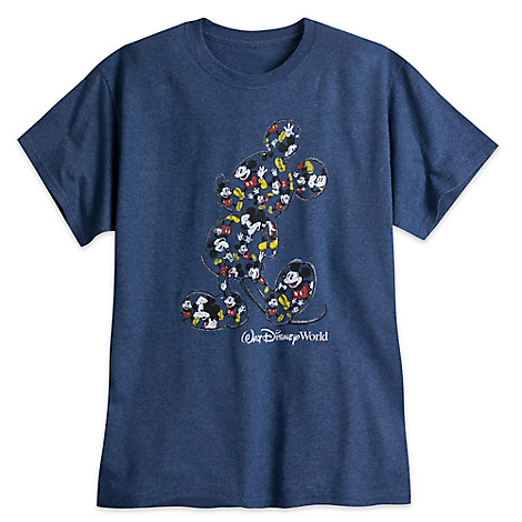 Mickey Mouse Heathered Tee for Adults - Walt Disney World - Blue