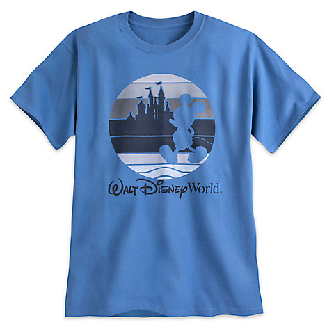 Mickey Mouse Silhouette Tee for Adults - Walt Disney World - Blue