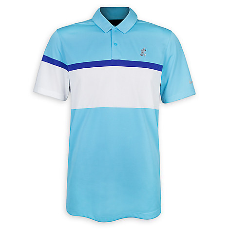 Mickey Mouse Performance Polo Shirt for Men by NikeGolf - Blue & White