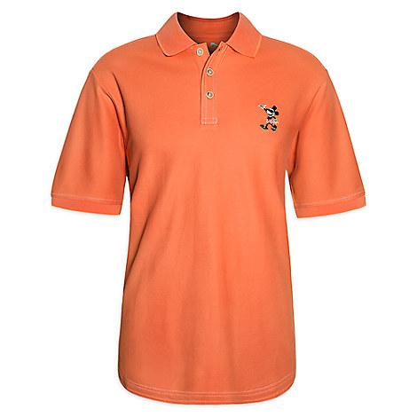 Mickey Mouse Polo Shirt for Men - Orange