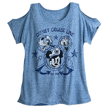 Mickey Mouse and Friends Fashion Tee for Women - Disney Cruise Line