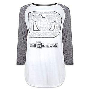 Mickey Mouse Raglan Long Sleeve Tee for Women by Disney Boutique - Walt Disney World