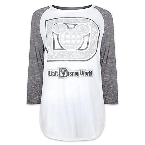 Mickey Mouse Raglan Long Sleeve Tee for Women by Disney Boutique - Walt Disney World