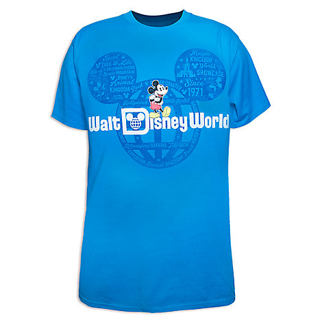 Mickey Mouse Walt Disney World Tee for Adults - Blue