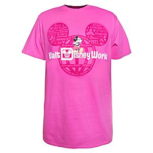 Mickey Mouse Walt Disney World Tee for Adults – Pink