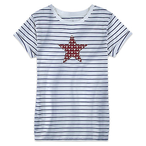 Minnie Mouse Stars and Stripes Tee for Women