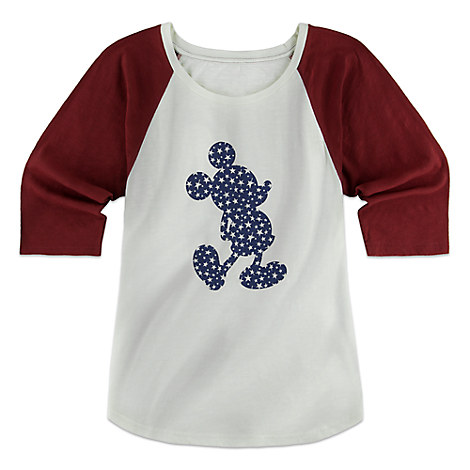 Mickey Mouse Raglan Shirt for Women
