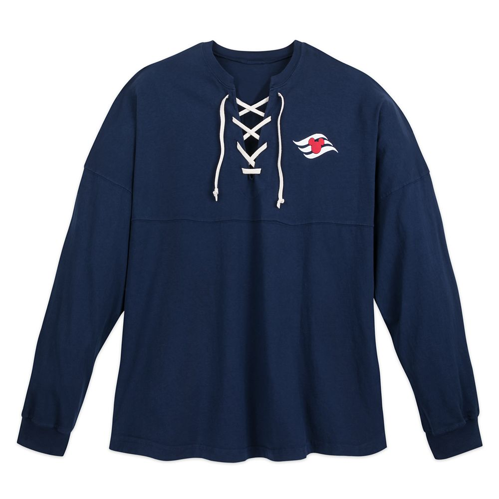 Disney Cruise Line Lace-Up Spirit Jersey for Adults – Navy