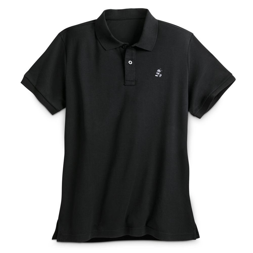 Mickey Mouse Pima Cotton Polo Shirt for Men – Black