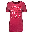 Mickey Mouse ''Love the U.S.A.'' Tee for Women