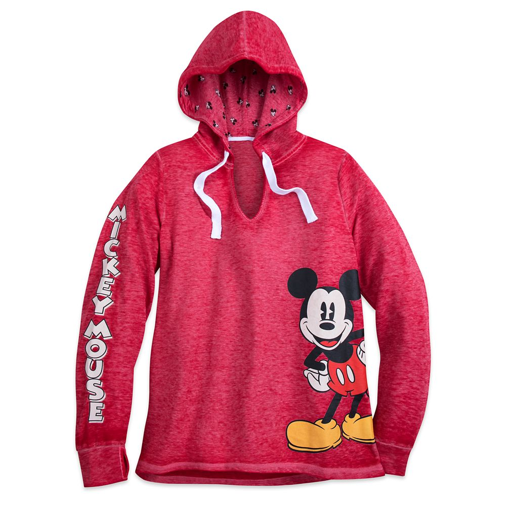 Mickey Mouse Pullover Hooded Top – Women