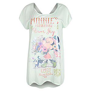 Minnie Mouse Fashion T-Shirt for Women - Epcot International Flower & Garden Festival 2018