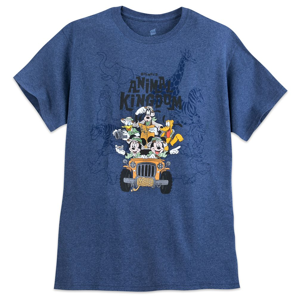 Mickey Mouse and Friends Safari T-Shirt for Adults – Disney's Animal Kingdom