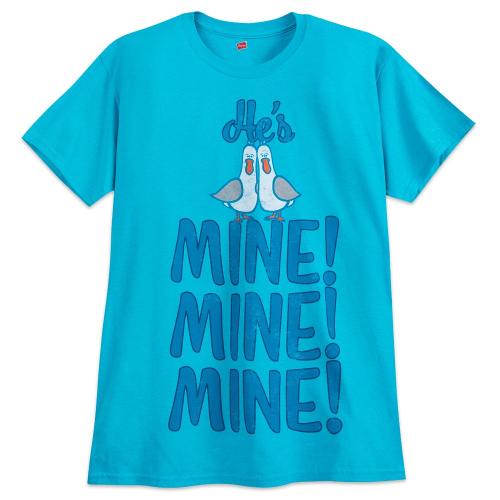 Finding Nemo Seagulls ''He's Mine, Mine, Mine'' Couples T-Shirt for Adults