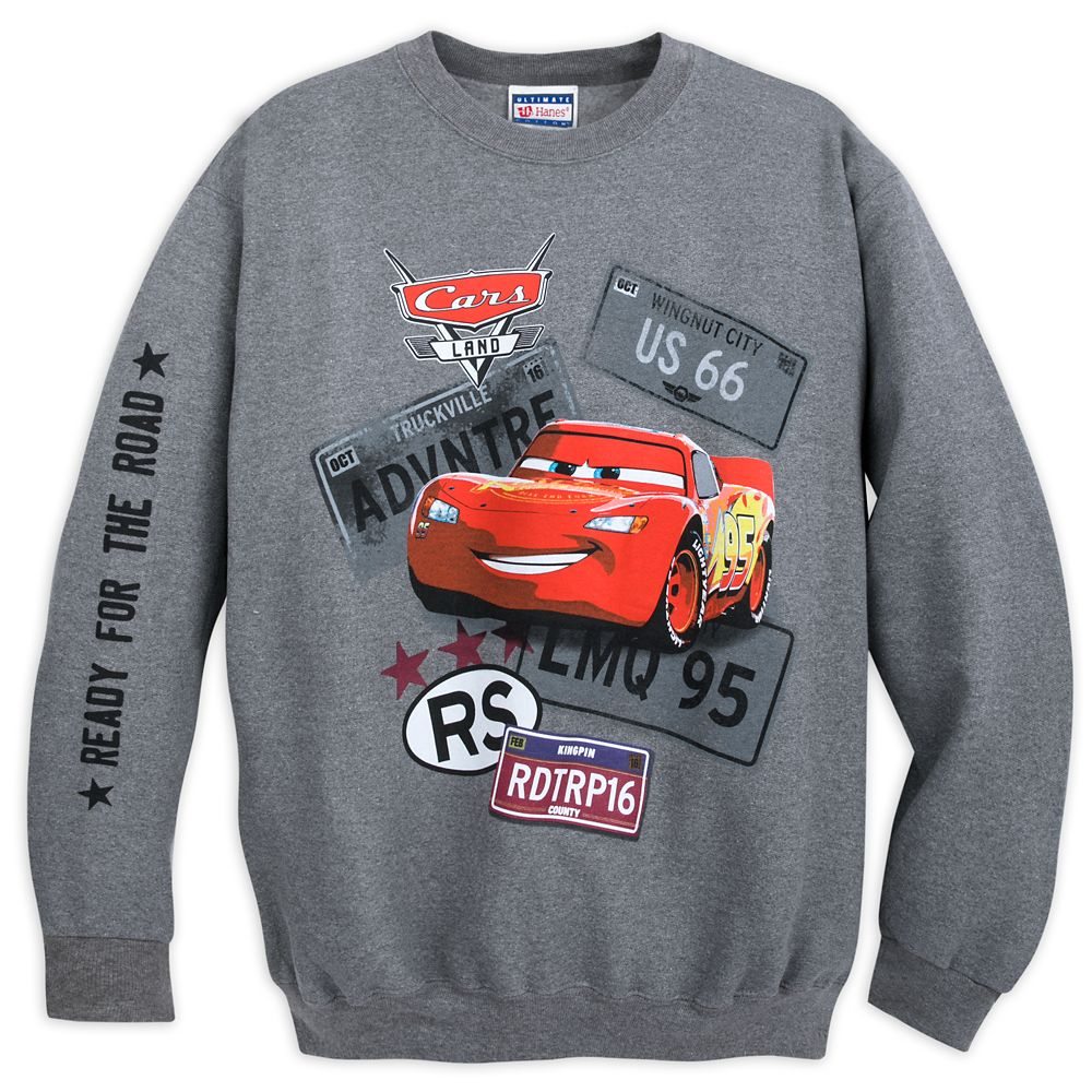 Lightning McQueen Fleece Sweatshirt for Adults Official shopDisney