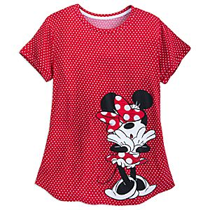 Minnie Mouse Polka Dot Shirt for Women