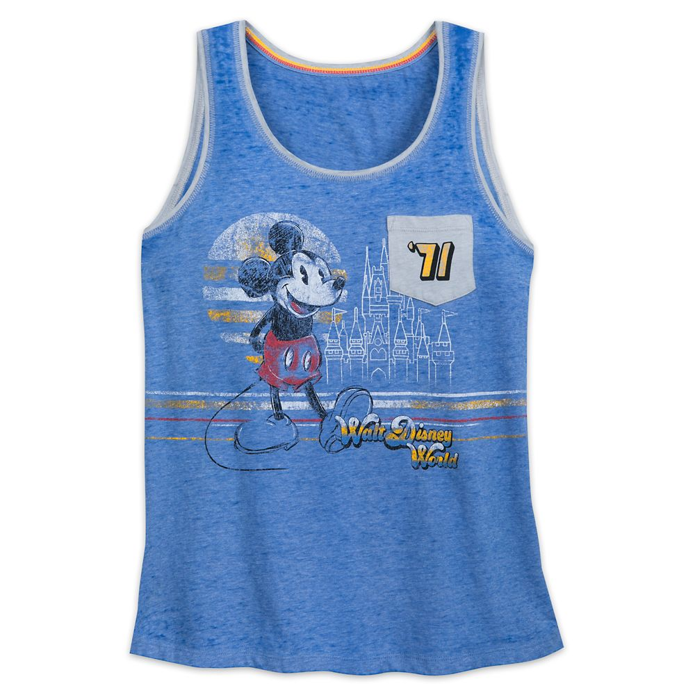 Mickey Mouse and Cinderella Castle Tank Top for Women  Walt Disney World