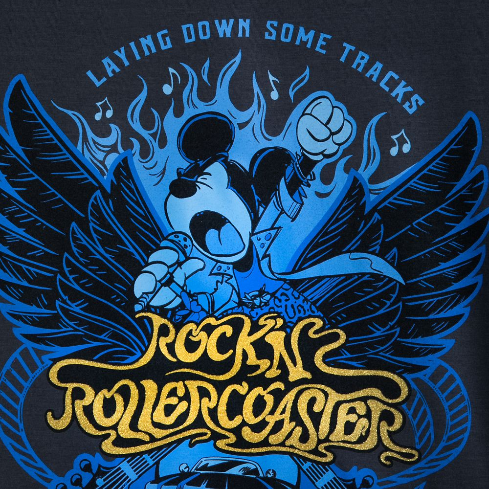 Mickey Mouse Rock 'n Roller Coaster Lace-Up T-Shirt for Women