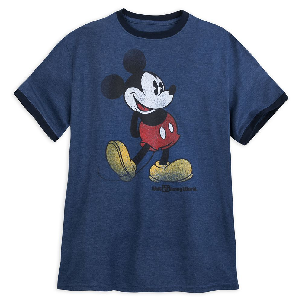 Mickey Mouse Classic Ringer T-Shirt for Adults – Walt Disney World – Navy
