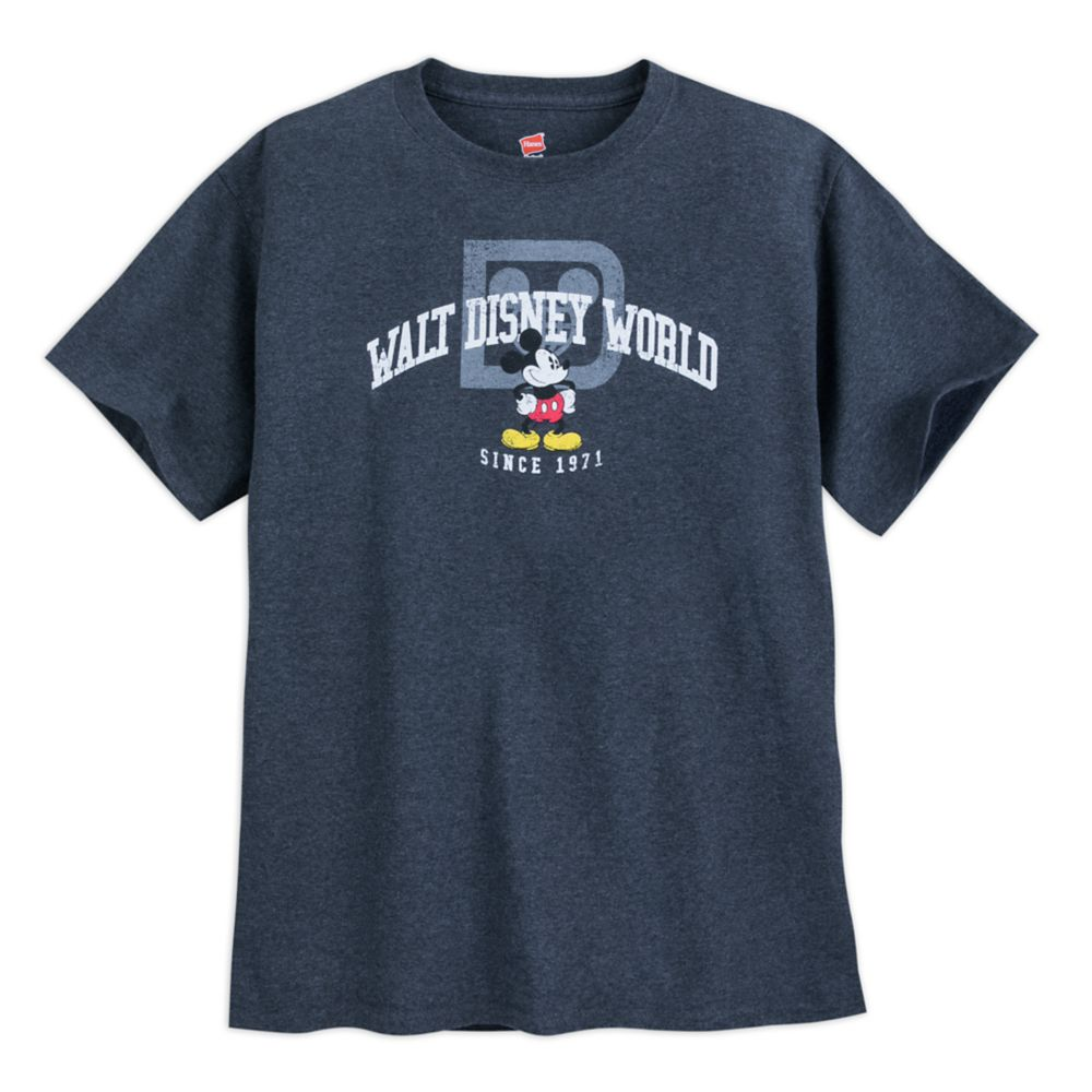 Mickey Mouse with Walt Disney World Logo Tee for Adults  Gray