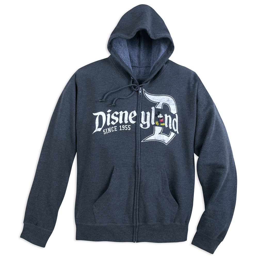 Mickey Mouse Zip Hoodie for Adults – Disneyland