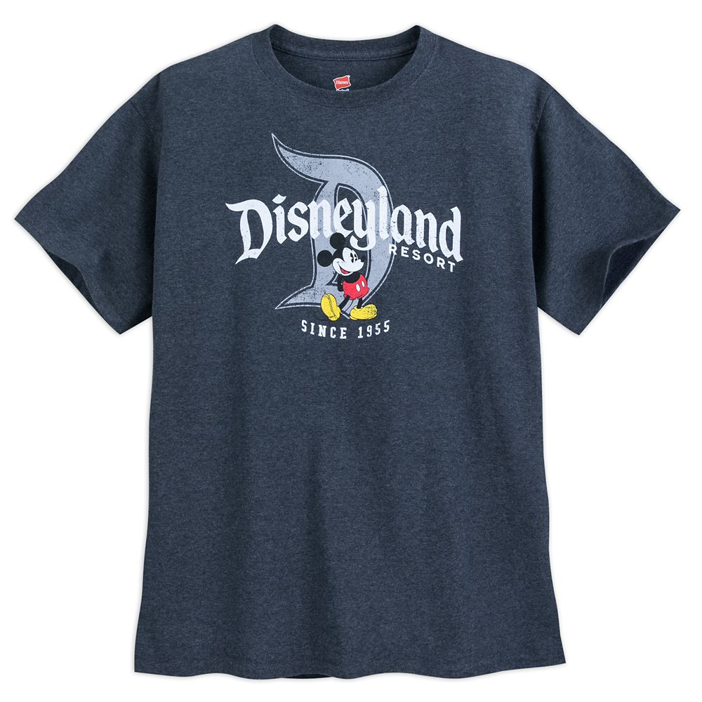 Mickey Mouse with Disneyland Logo T-Shirt for Adults – Gray