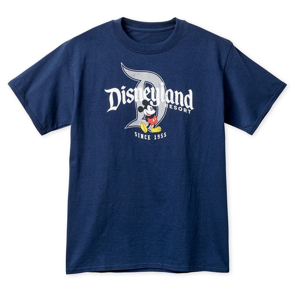 Mickey Mouse T-Shirt for Adults  Disneyland  Navy