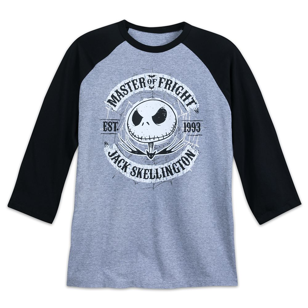 Jack Skellington Baseball T-Shirt for Adults
