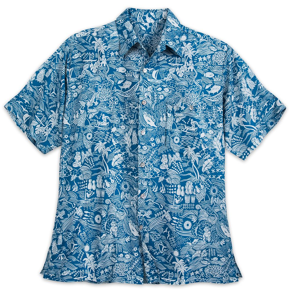 Aulani, A Disney Resort & Spa Aloha Shirt with Shell Buttons for Men by Tori Richard