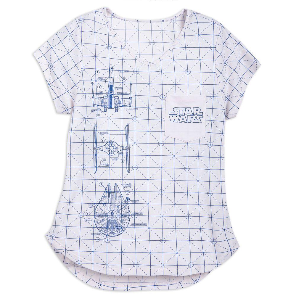 Star Wars Blueprint T-Shirt for Women Official shopDisney