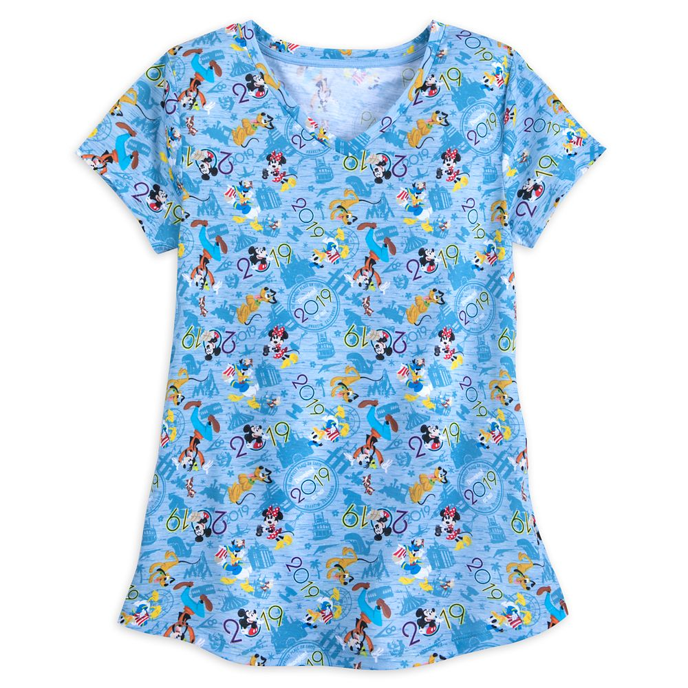 Mickey Mouse and Friends T-Shirt for Women  Disneyland 2019
