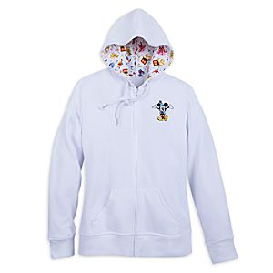 Mickey Mouse ''Let's Celebrate'' Zip Hoodie for Women - Disneyland