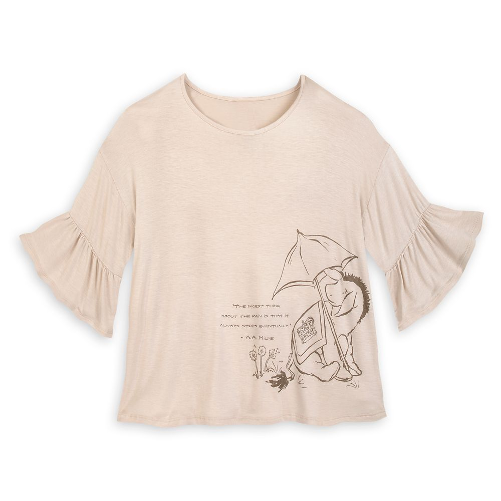 Eeyore Scoop Neck Fashion T-Shirt for Women