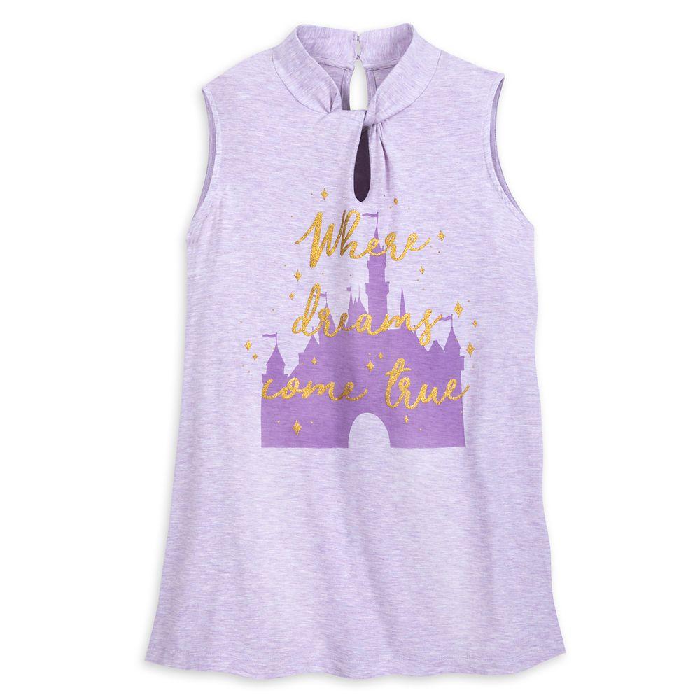 Sleeping Beauty Castle Keyhole Tank Top for Women  Disneyland