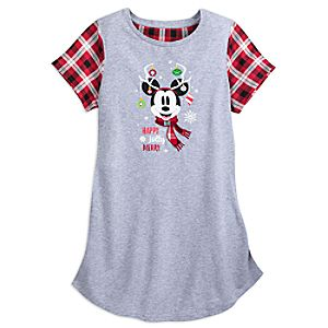Image of Mickey Mouse Christmas Nightshirt for Women