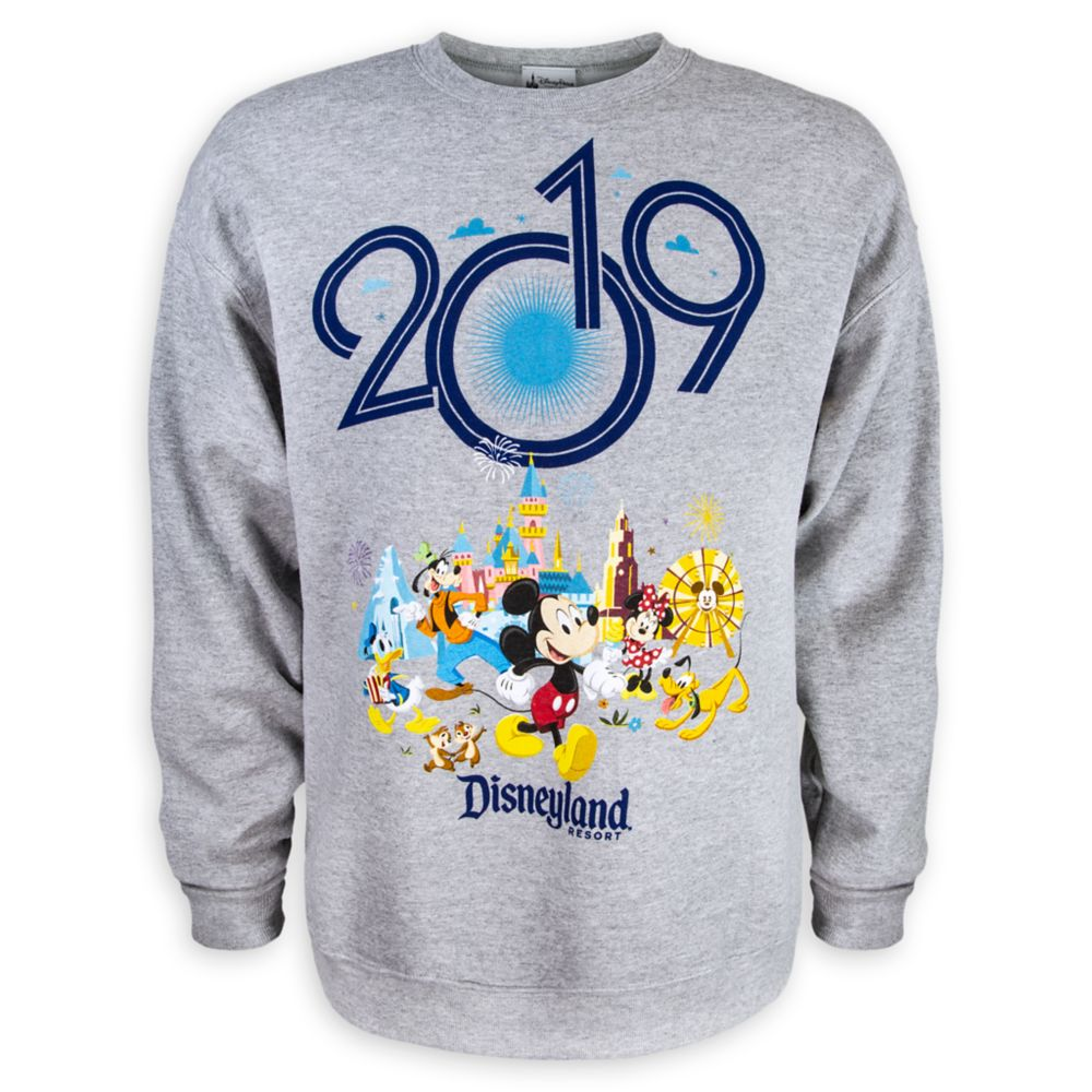 Mickey Mouse and Friends Fleece Sweatshirt for Adults – Disneyland 2019