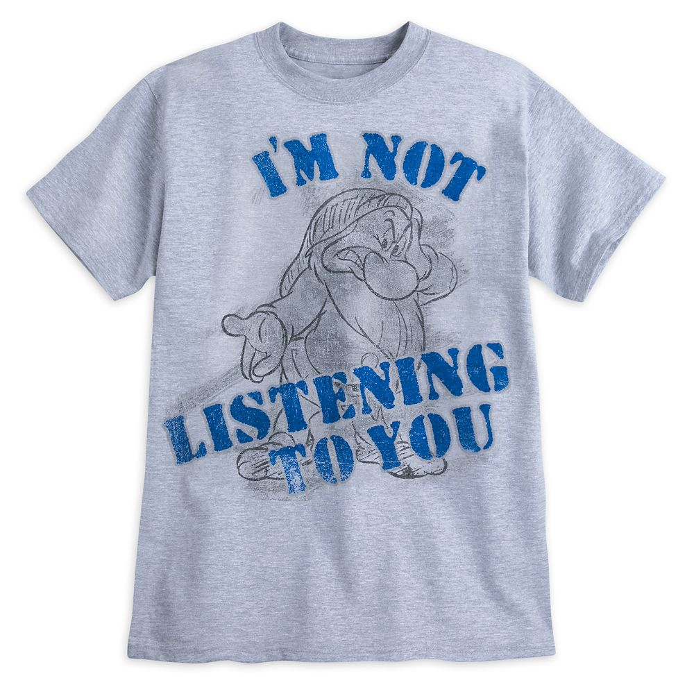 Grumpy ''I'm Not Listening to You'' T-Shirt for Adults