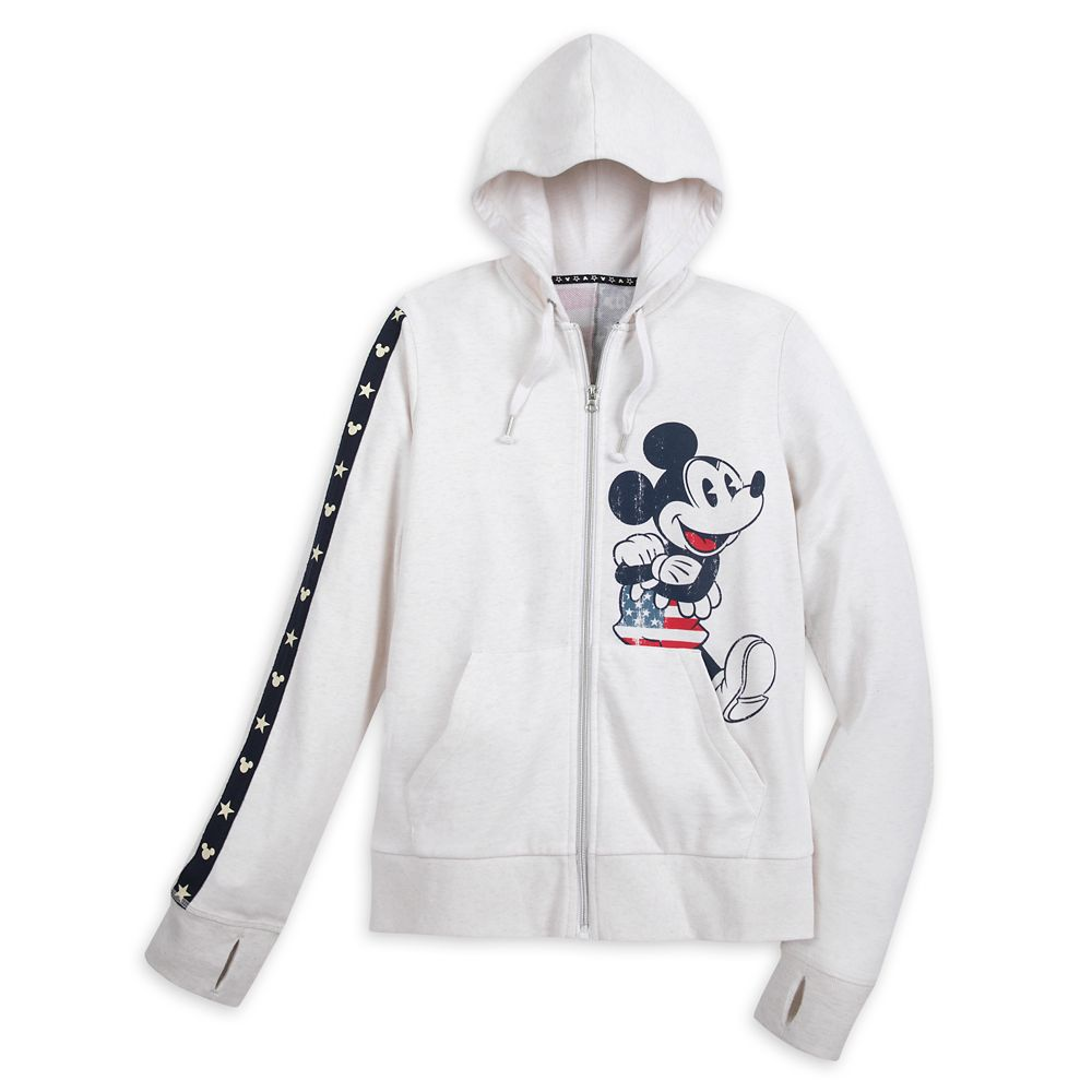 Mickey Mouse Americana Zip Hoodie for Women