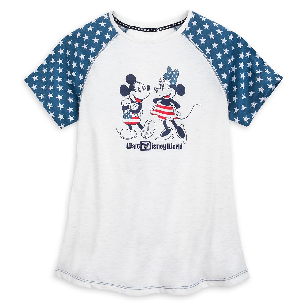 Mickey and Minnie Mouse Americana T-Shirt for Women  Walt Disney World