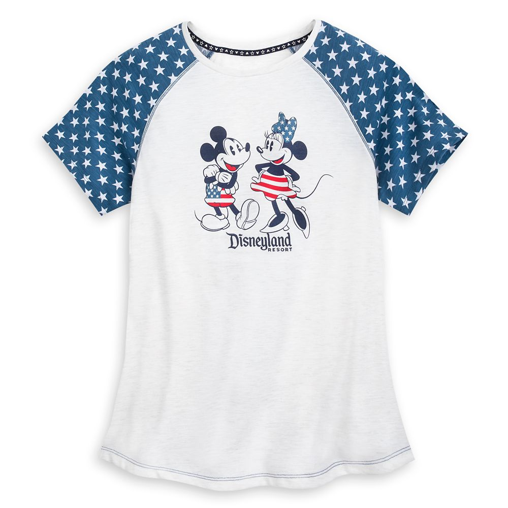 Mickey and Minnie Mouse Americana T-Shirt for Women  Disneyland