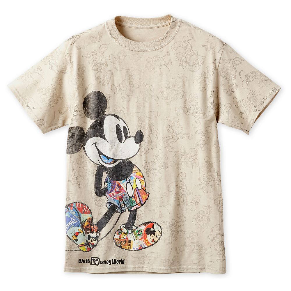 Mickey Mouse Through the Years T-Shirt for Men – Walt Disney World