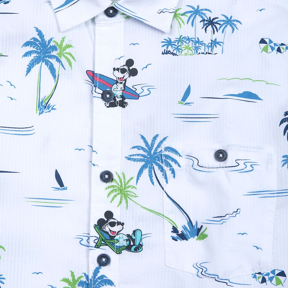 Mickey Mouse Button Shirt for Men by Tommy Bahama – White